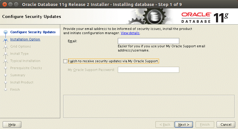 How to install Oracle on Ubuntu – Oracle Universal installer is launched
