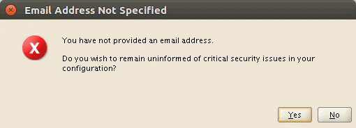 Installing Oracle database on Ubuntu – an email address is not necessary
