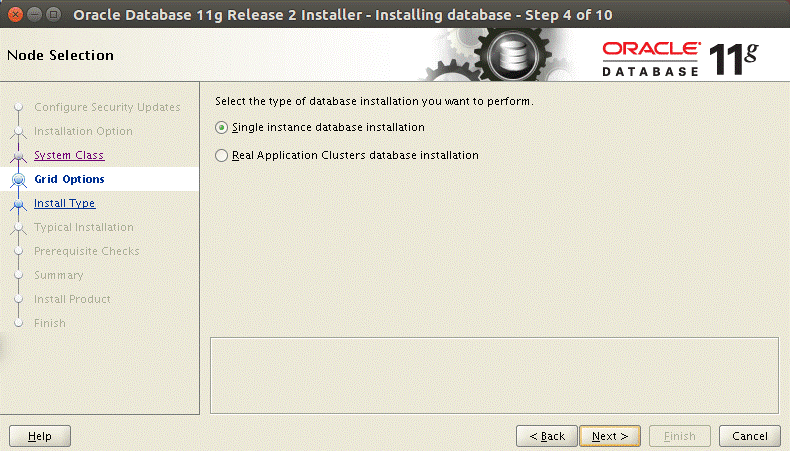 Installing Oracle database on Ubuntu – single instance database installation