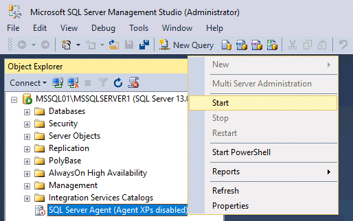 Starting SQL Server agent is needed for replication in SQL Server