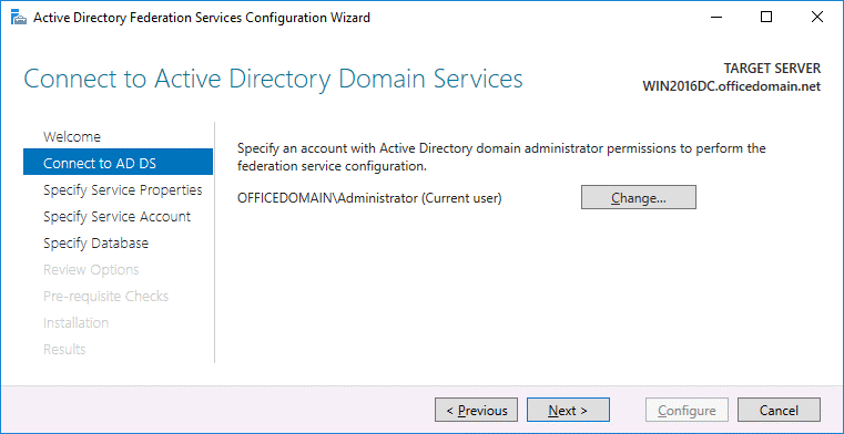 Connecting to Active Directory Domain Services
