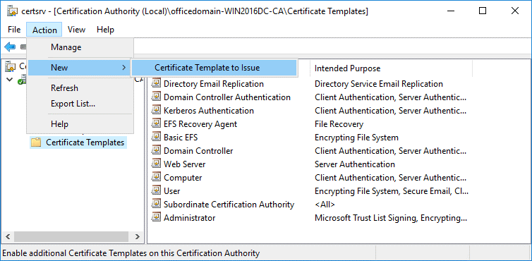 Generating a certificate for Office 365 ADFS setup