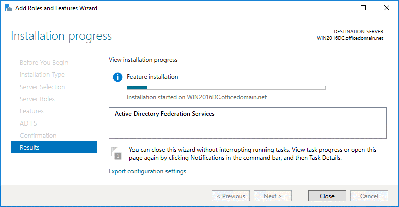 Installing ADFS for Office 365
