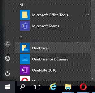 Opening OneDrive sync client