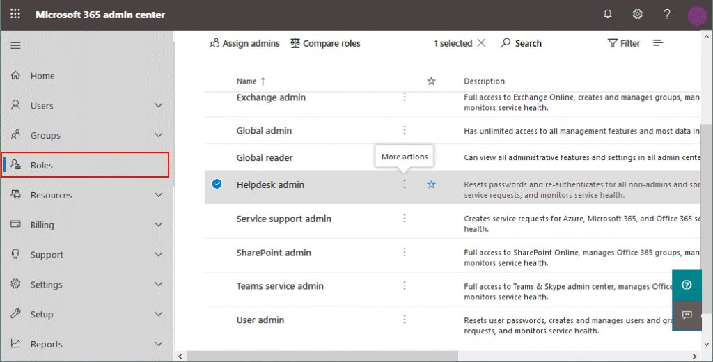Managing Office 365 admin roles