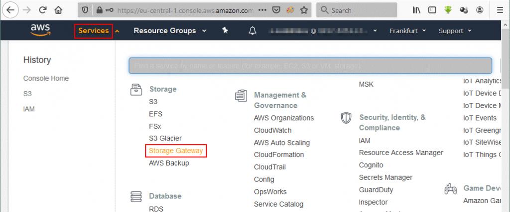 Storage Gateway AWS