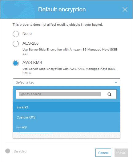 Using AWS-KMS for AWS encryption