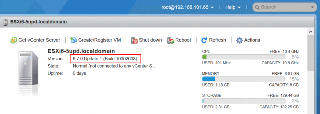 Checking-the-current-ESXi-version-before-upgrade