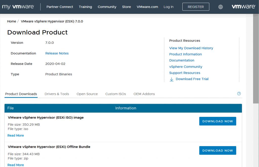 Downloading-the-VMware-ESXi-7-offline-bundle-from-the-VMware-website