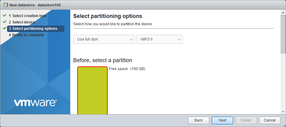 Selecting-partitioning-options