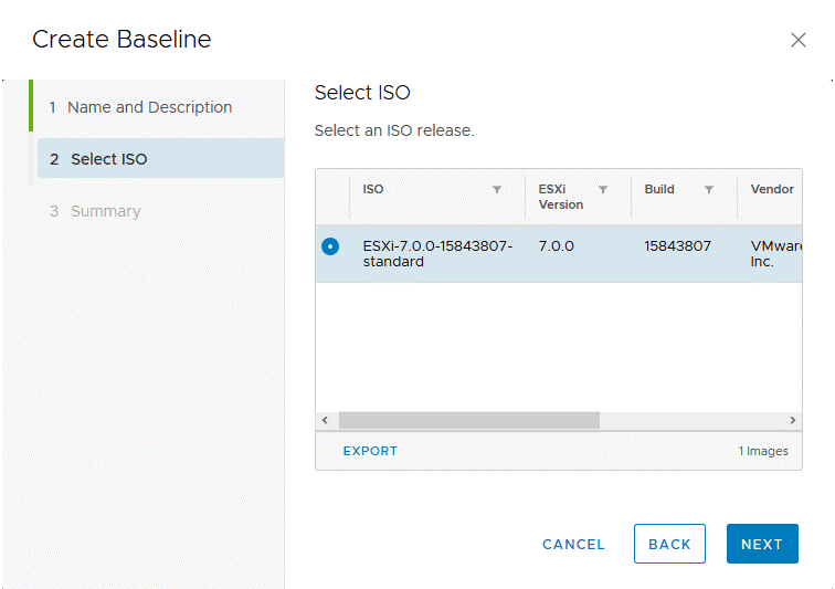 Selecting-the-ESXi-7-installation-ISO-image-for-a-new-baseline
