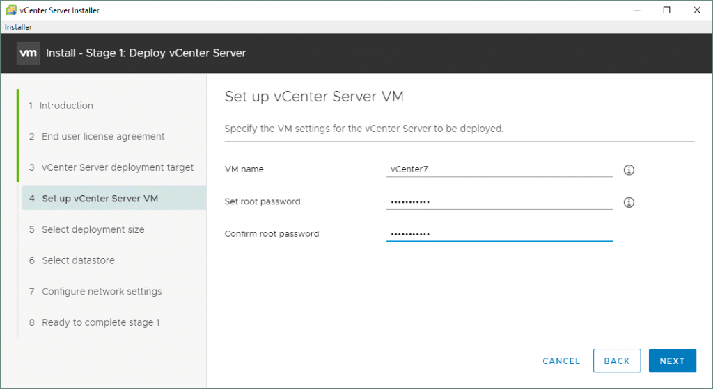 Specifying-the-VM-settings-for-the-vCenter-Server-7-to-be-deployed