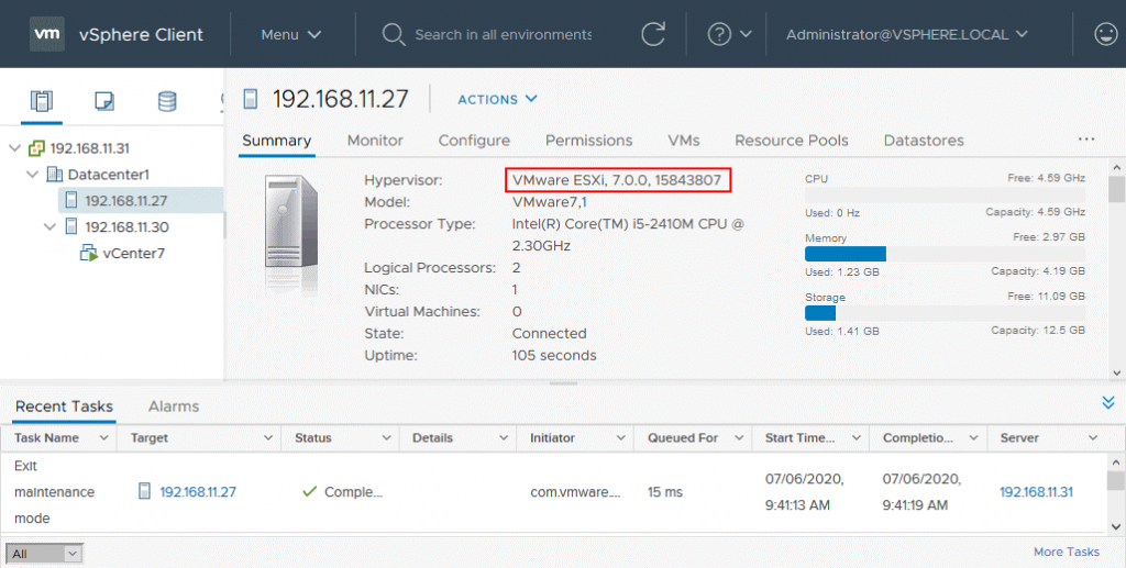 The-ESXi-host-has-been-upgraded-to-the-version-7-successfully