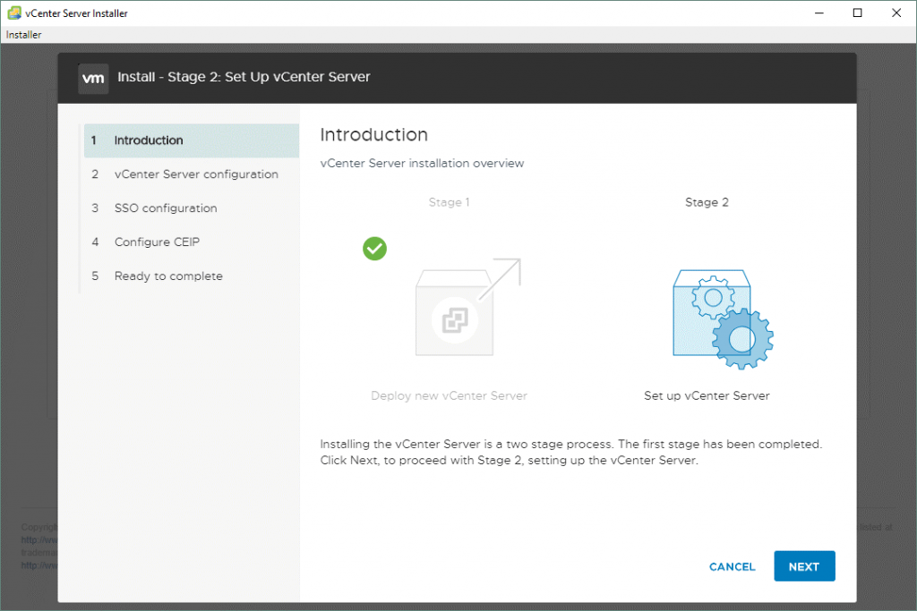 VMware-vCenter-Server-7-setup_stage-2