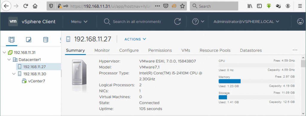 Using-vCenter-7-to-manage-VMware-vSphere-7-deployed-in-the-vSphere-7-home-lab
