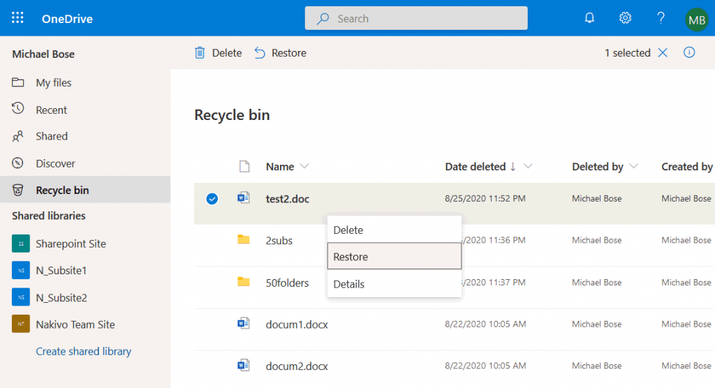 How-to-recover-deleted-files-from-OneDrive-by-using-the-Recycle-Bin-online