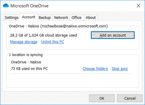 How-to-use-OneDrive-account-settings