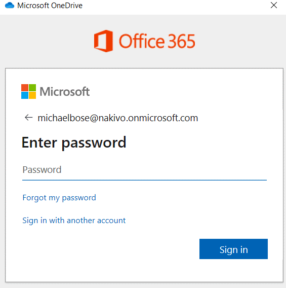 Entering-the-password-to-sign-in