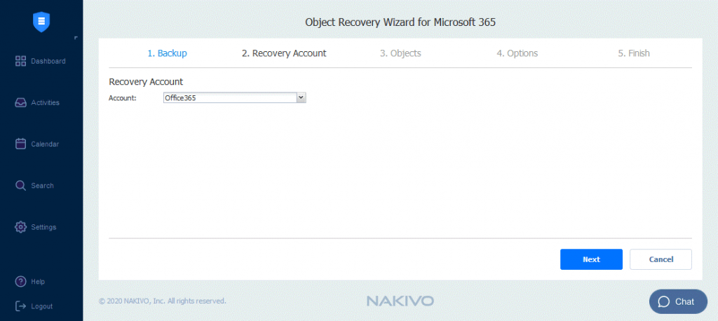 Selecting-an-Office-365-recovery-account-to-recover-files-from-the-OneDrive-backup