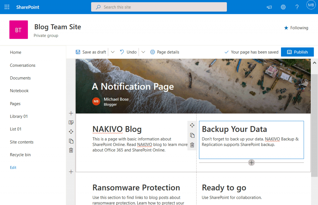 A-notification-page-in-Microsoft-SharePoint-Online