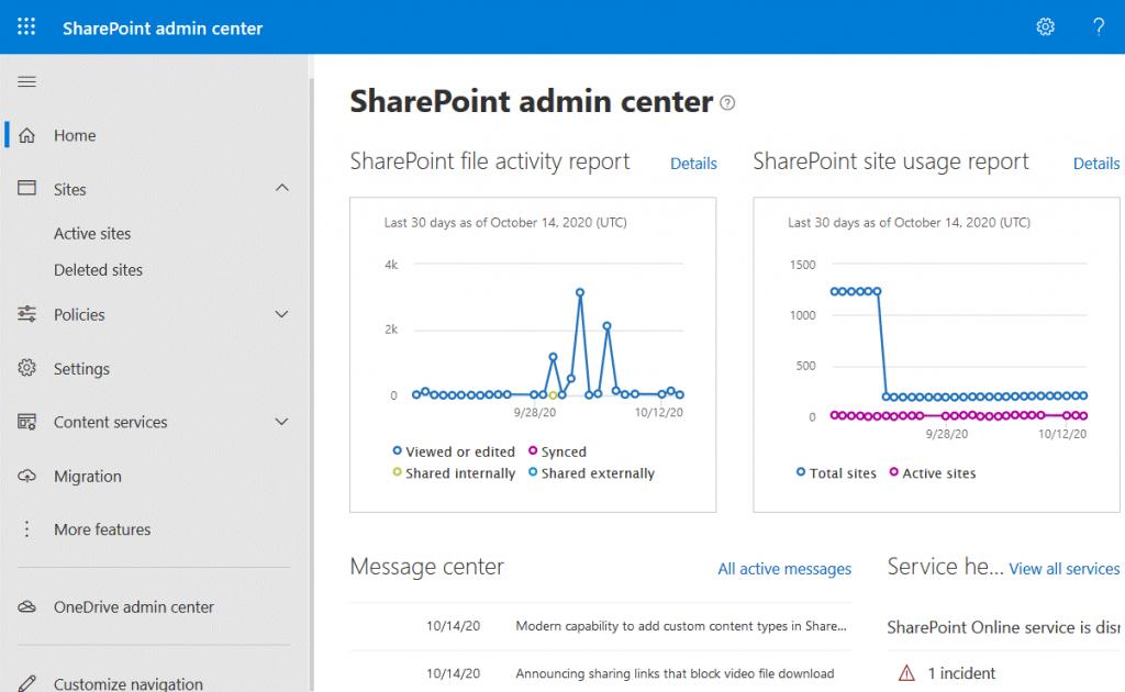 A-web-interface-of-a-SharePoint-admin-center