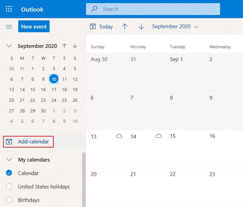 Adding-a-calendar-to-Office-365