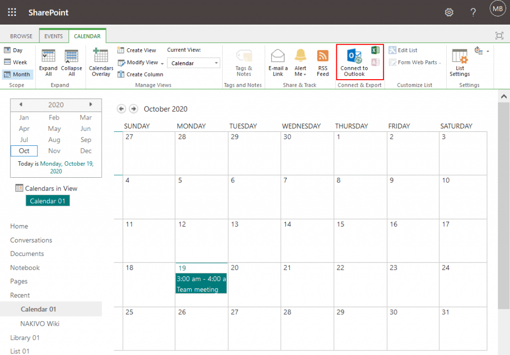 Connecting-a-calendar-to-Outlook