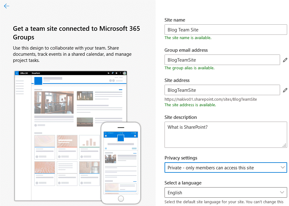 Creating-a-new-site-in-Microsoft-SharePoint-Online