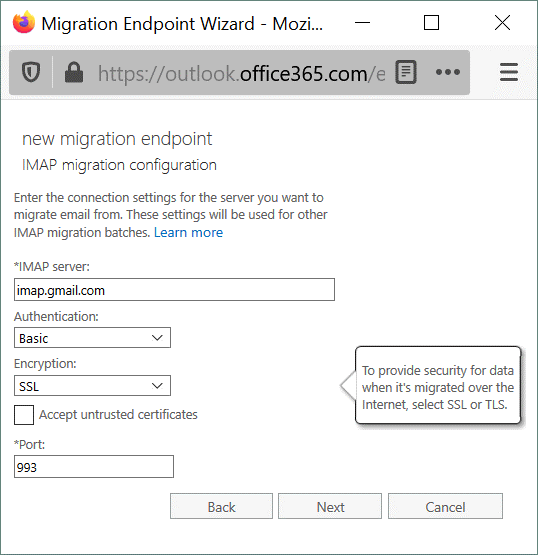 IMAP-migration-configuration-is-used-for-G-Suite-migration