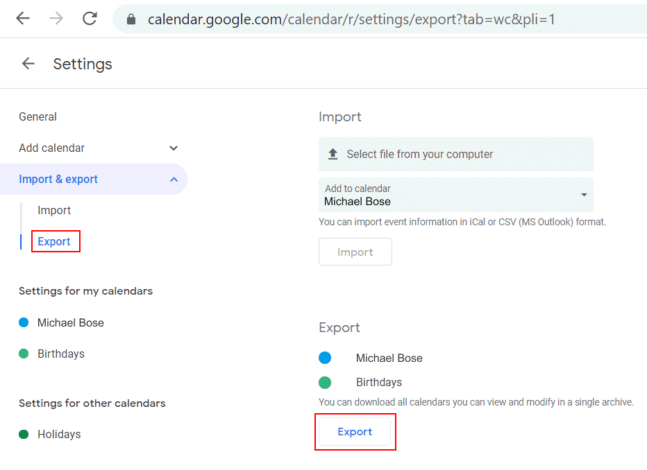 Selecting-calendars-to-migrate-from-G-Suite-to-Office-365