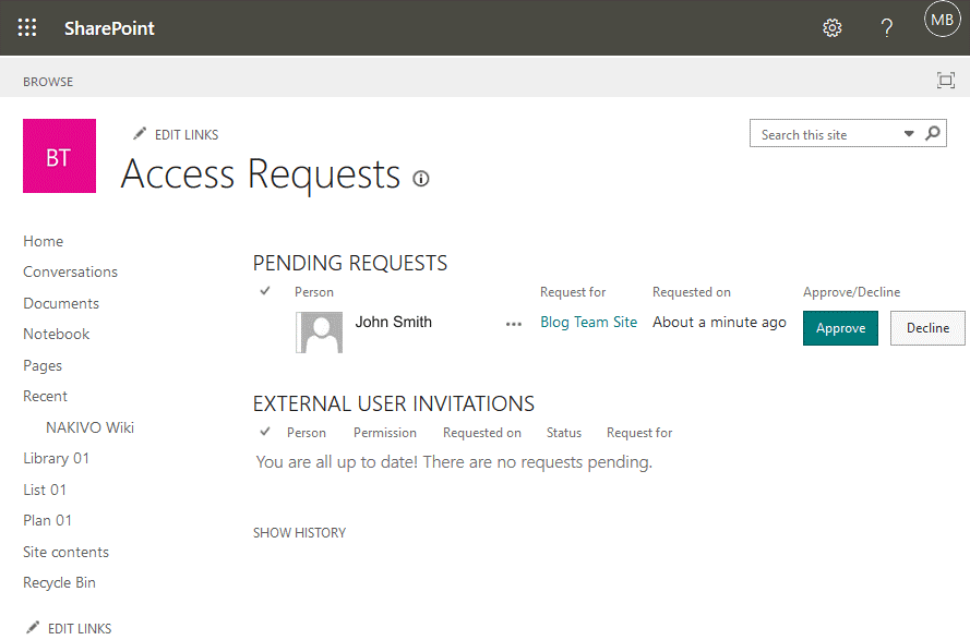 Using-SharePoint-approving-a-request-to-access-shared-files