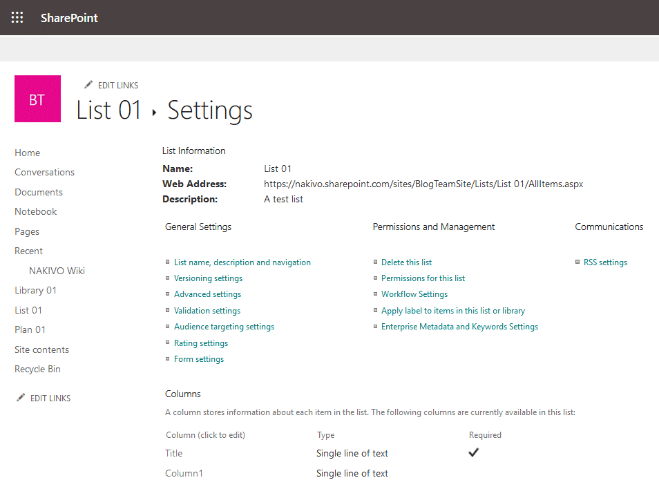What-is-SharePoint-Online-list-settings
