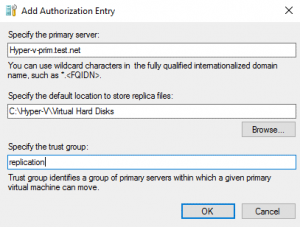 Adding the authorization entry
