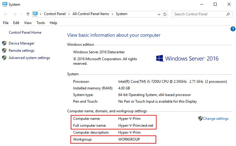 Configuring a computer name and generate SSL certificate Windows