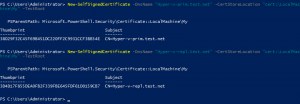 Create self-signed certificate Windows