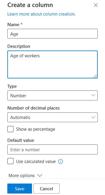Creating a column in a SharePoint list