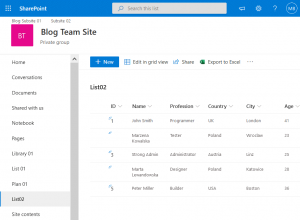 How to export SharePoint list to Excel by using the copy-paste method