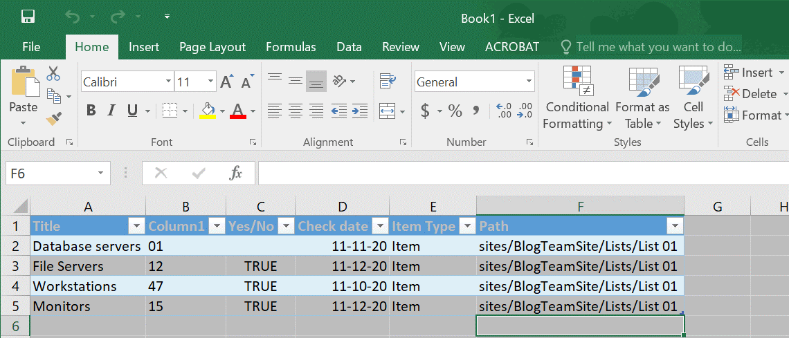How to export SharePoint list to Excel (finished)