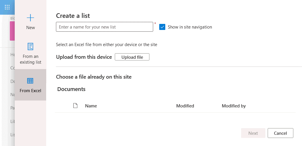 Selecting a file from which you want to import data