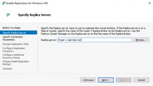 Specifying a replica server