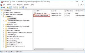 The certificates are imported on the replica server