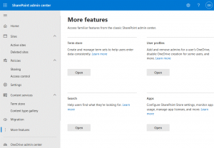 Configuring more features with SharePoint central administration