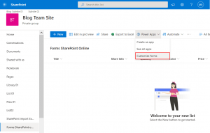 Customize Office 365 SharePoint forms with Power Apps