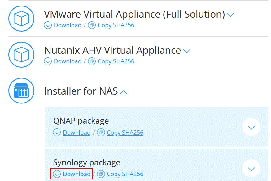 Downloading NAKIVO Backup & Replication to create a backup appliance