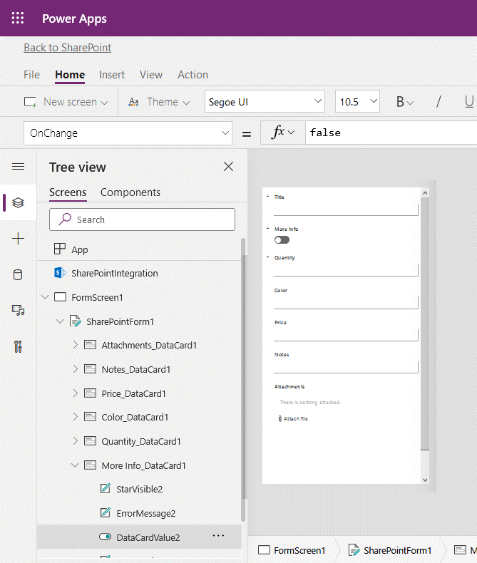 Editing SharePoint Online forms with Power Apps