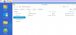 NAS for backup storage – viewing the folder of a backup repository