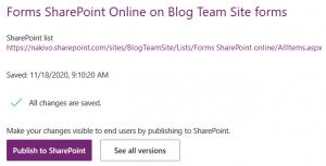 Publishing SharePoint custom forms