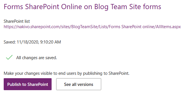 Publishing SharePoint custom forms