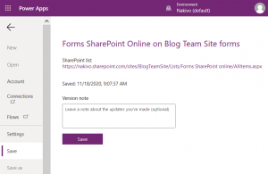 Saving Forms SharePoint Online