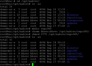 Creating a directory for a backup repository on a Linux machine